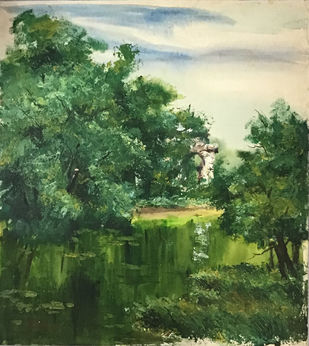 Untitled by Dipak Kundu, Impressionism Painting, Watercolor on Paper,