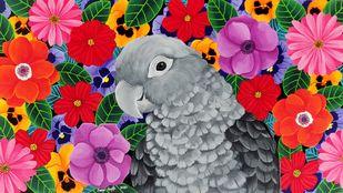 Bloom by Sreya Gupta, Fantasy Painting, Acrylic on Canvas,
