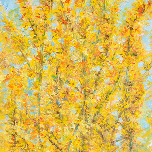 Forsythia (Easter Tree) Digital Print by Animesh Roy,Expressionism