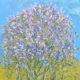 Lilacs In My Garden Digital Print by Animesh Roy,Expressionism