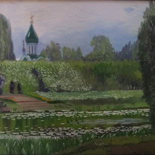 Afternoon in Pereslavl by Deeptika Bhagavathi, Expressionism Painting, Oil on Canvas,