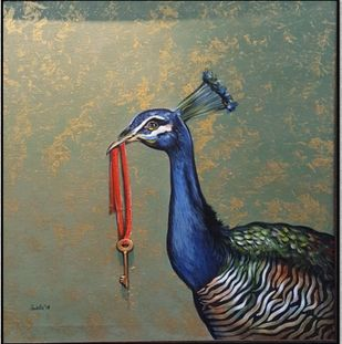 Key to Success by Ankita Sancheti, Expressionism Painting, Acrylic on Canvas,