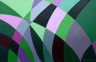 Imprints Digital Print by JEETENDRA KUMAR,Cubism