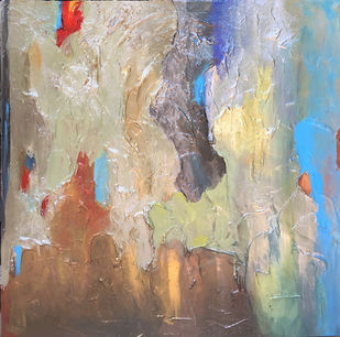Poetry in Gold 15 by Shan Re, Abstract Painting, Acrylic on Canvas, Nomad color