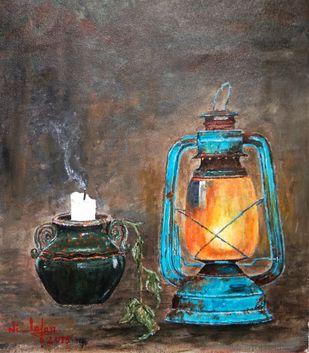 Still Life Painting Digital Print by Nilofar Ansari,Expressionism