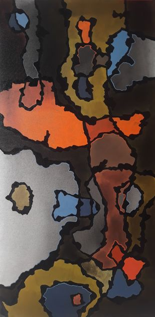 Everyday - 10 by Sanket Sagare, Abstract Painting, Acrylic on Canvas, Old Rose color