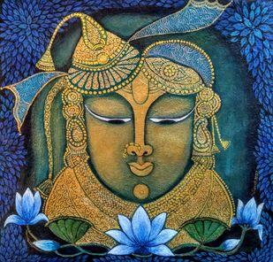 Shrinathji Digital Print by Vibha Singh,Folk