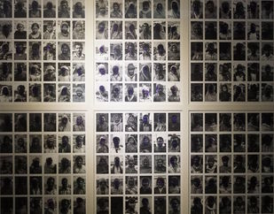 Identity Crisis (Angootha Chaap_Series) by Birender Kumar Yadav, Image Digital Art, Digital Print on Archival Paper, Swirl color