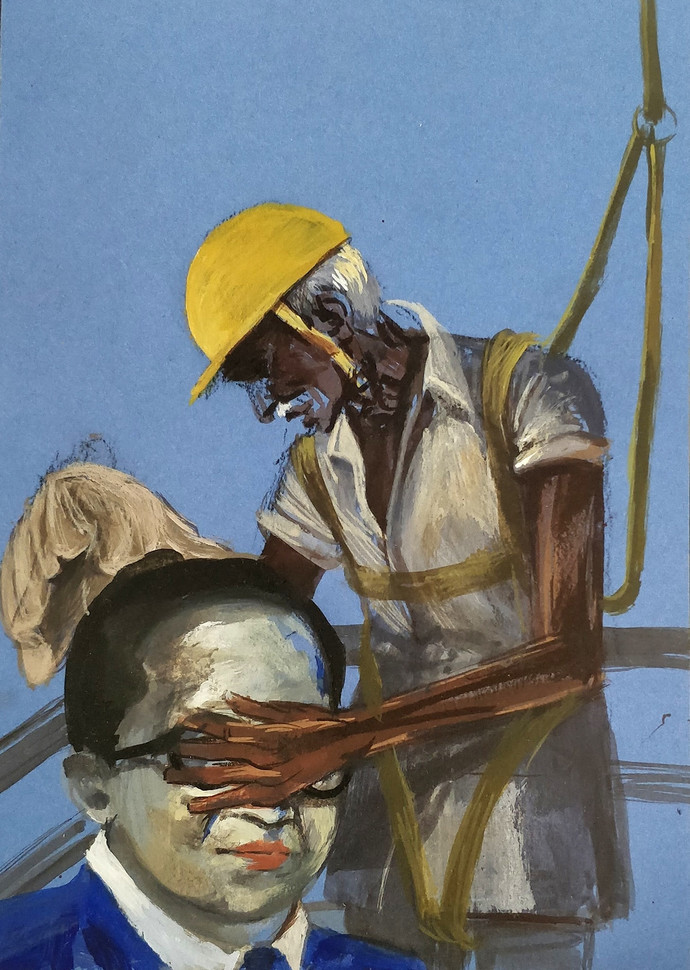 Ambedkar And A Labourer By Vikrant Bhise