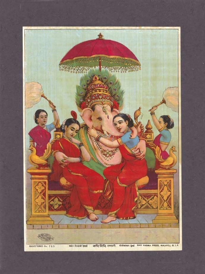 Ridhisidhi Ganapati By Raja Ravi Varma