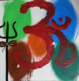 OM NAMA SHIVAYA Digital Print by Chandra Tatvaraj,Expressionism