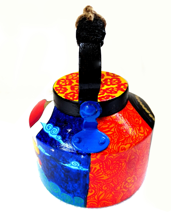 Premium hand-painted kettle- Arabian Nights Serveware By Pyjama Party Studio