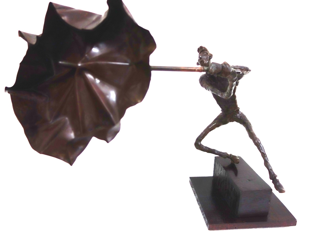 Gone with the wind by Usha Ramachandran, Impressionism Sculpture | 3D, Bronze, White color