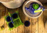 PoppadumArt The Chaiwala Tea Set - Royal Blue & Green (Large) Serveware By PoppadumArt