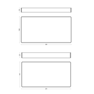 Tray Box - Rectangle - Set of 2 Stationery By Deniable Studio