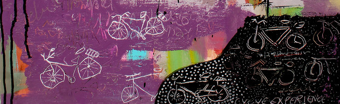 Cycle Experience 44 by Ravi kumar Yogi, Abstract Painting, Acrylic on Canvas, Brown color