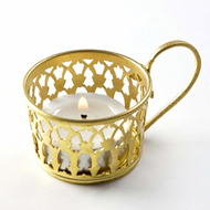 Victoria Tealight Holder Br Set of 2 T-Light and Votive Holder By AnanTaya