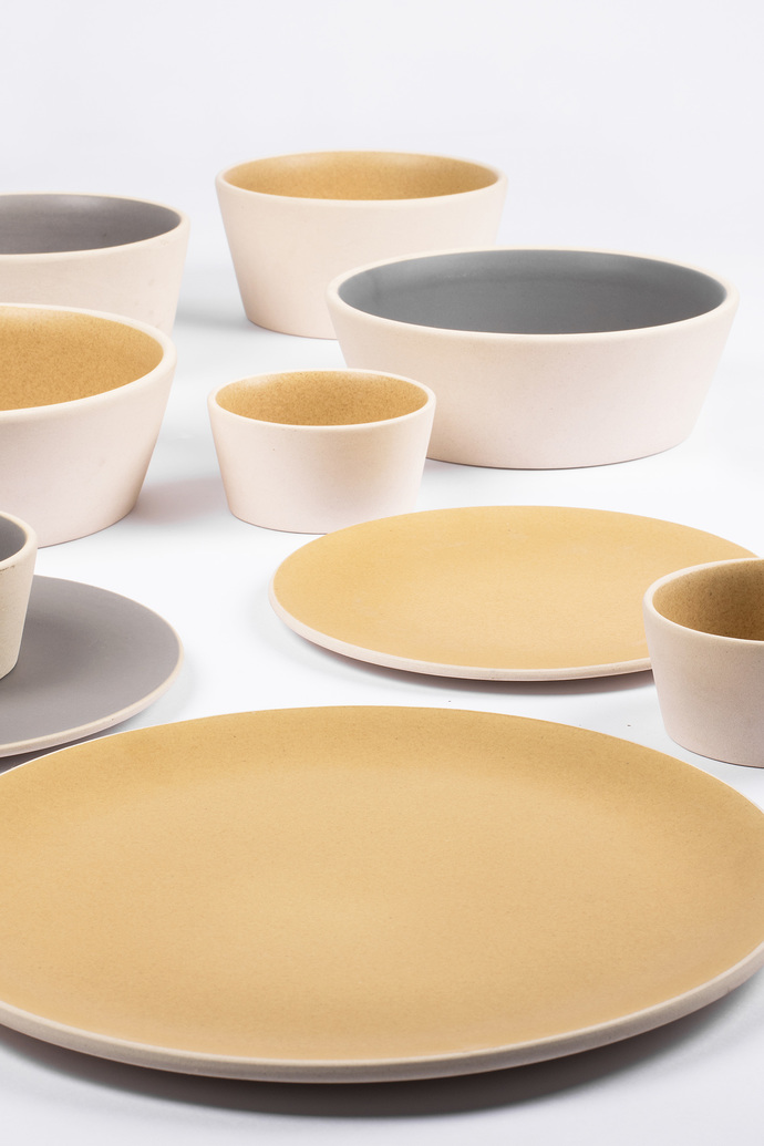 Basik Plate small [yellow] x 2 Kitchen Ware By Rayden Design Studio