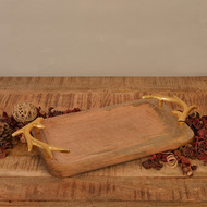 Rectangular Wooden Tray By The Yellow Door