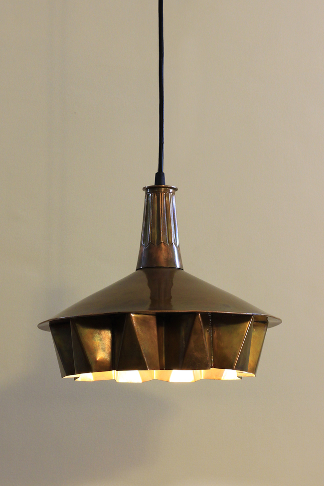 Pintuck lamp 01   antique copper finish 01