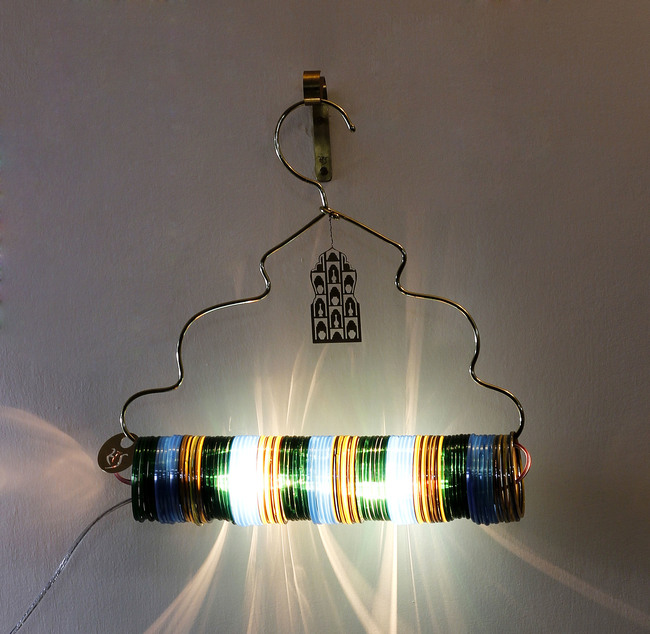 Jaipur choori lamp in bamboo green by sahil and sarthak