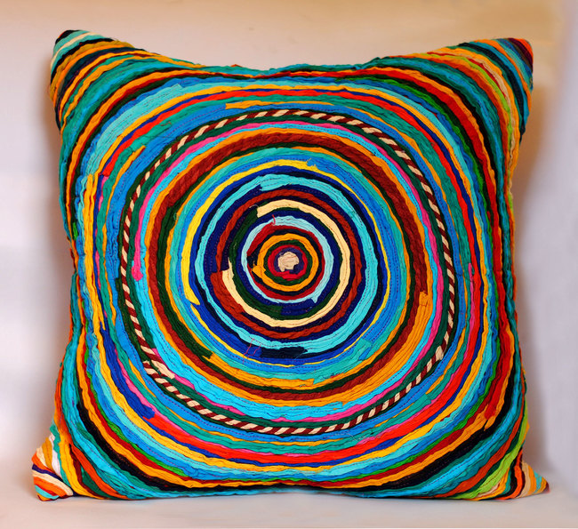Chakri   multicolor    cushion cover  20 x 20  3