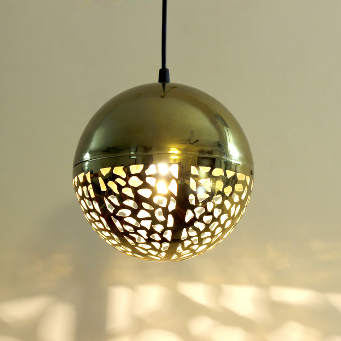Rudraksh Hanging Light - Luner Ceiling Lamp By Sahil & Sarthak
