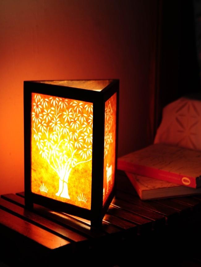 Sanjhi tol lamp orange 2