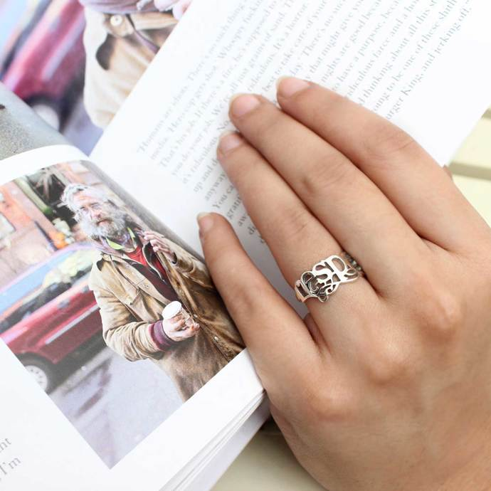 Respect Ring - Small by Eina Ahluwalia, Contemporary Ring