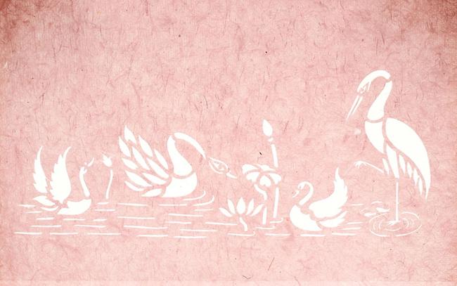1stainless steel sanjhi tray pink swan 2