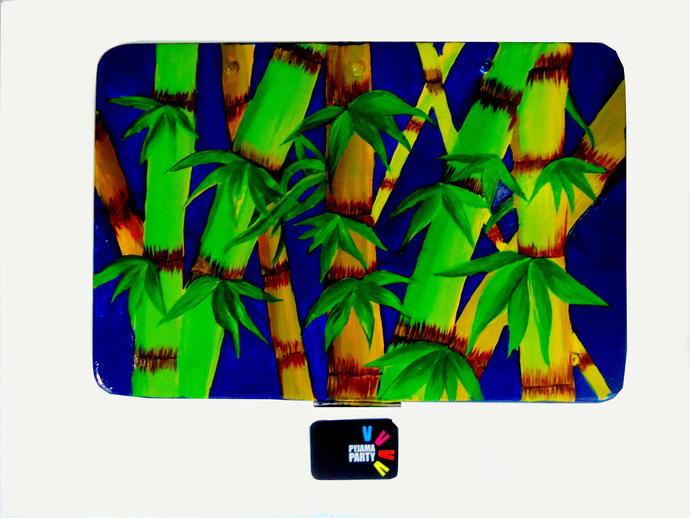 Trippy Trinket boxes- handpainted keepsake box Bamboo Bliss Decorative Box By Pyjama Party Studio