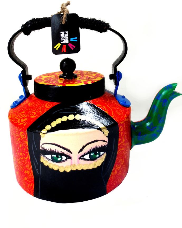 Premium hand-painted kettle- Arabian Nights Serveware By Pyjama Party Studio