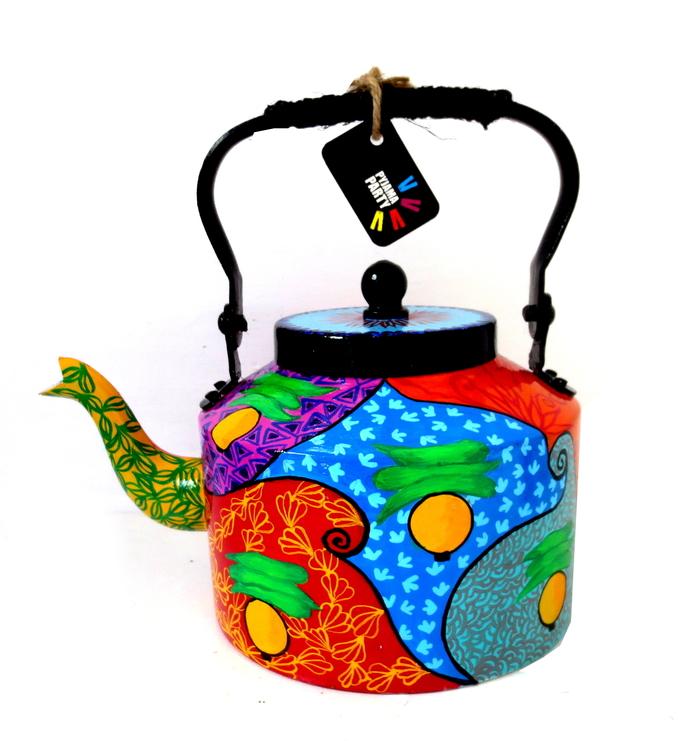 Premium hand-painted kettle- Rickshaw Serveware By Pyjama Party Studio