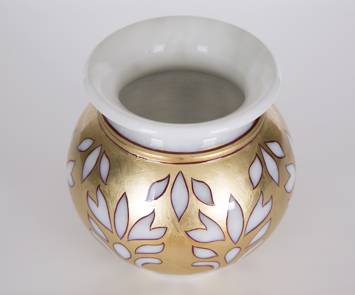 Lacquered Marble Gold Votives - Set of 4 T-Light and Votive Holder By Carved Additions
