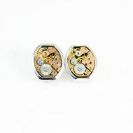 Gentlemen's cuff links #002 by Absynthe Design, Art Jewellery Button/Cufflink