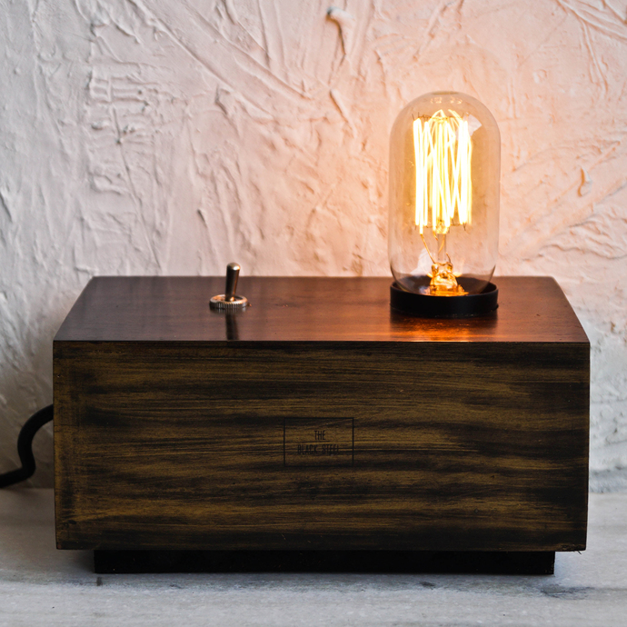 Dijon Gold Box Desk Industrial Lamp Table Lamp By The Black Steel