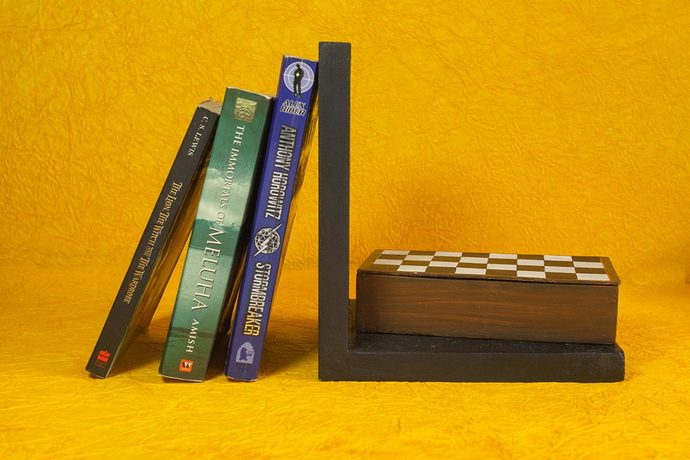 Chess Bookend with storage Book End By THE ART SPA