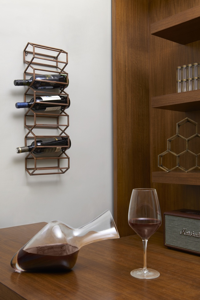The lohasmith   beehive wall   table bar rack
