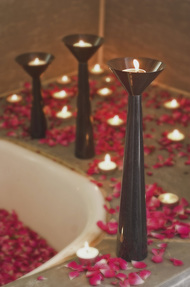 Cu Stone Candlestand L-B Candle Stand By AnanTaya