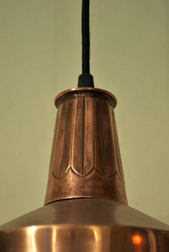 Pintuck 04 : Light copper Antique Ceiling Lamp By Sahil & Sarthak