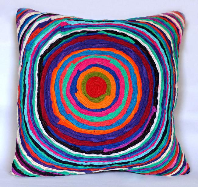 Chakri   multicolor    cushion cover  16 x 16  3