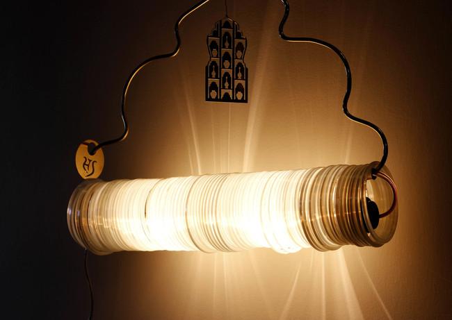 Jaipur choori lamp in white