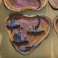 Resonance by Vasundhara Anand, Art Deco Sculpture | 3D, Wood, Brown color