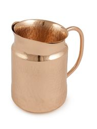 Courtyard Jaipuri Pure Copper Surahi Jug Small with Glass Kitchen Ware By COURTYARD