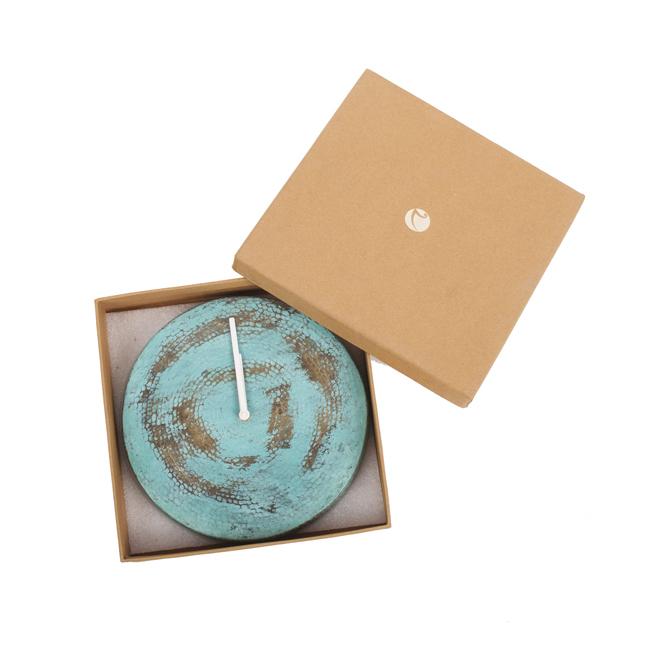 Wall O Clock - VerdiGris Clock By Studio Saswata
