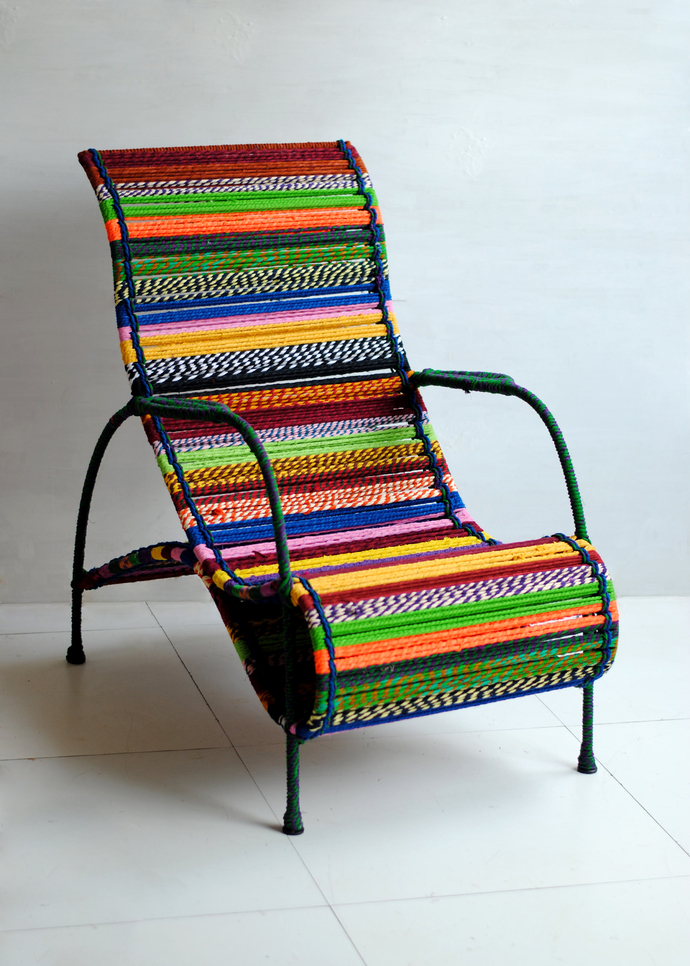Seraphina Chair in Tropical Multicolor Furniture By Sahil & Sarthak