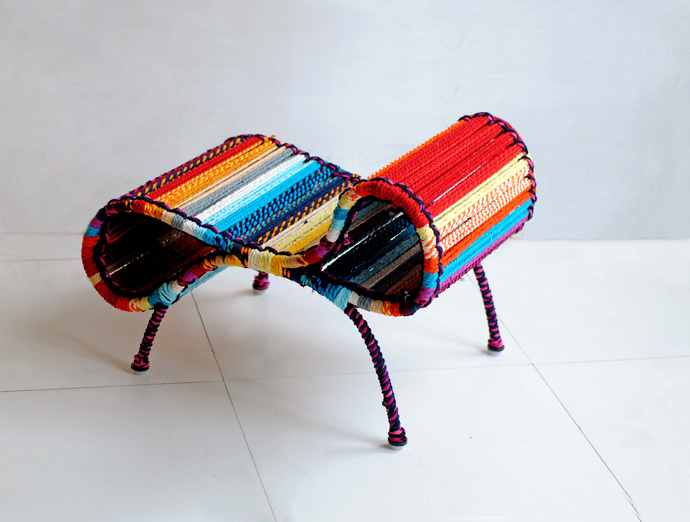 Seraphina Chair & Ottoman In California Sunset Furniture By Sahil & Sarthak