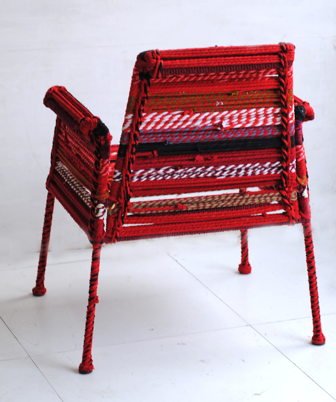 Stock Chair in Red Furniture By Sahil & Sarthak