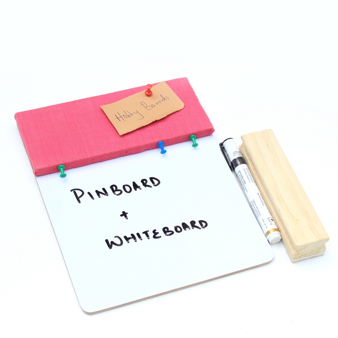 IVEI Pin board + whiteboard, Combination board - Small (Pink) Wall Decor By i-value-every-idea