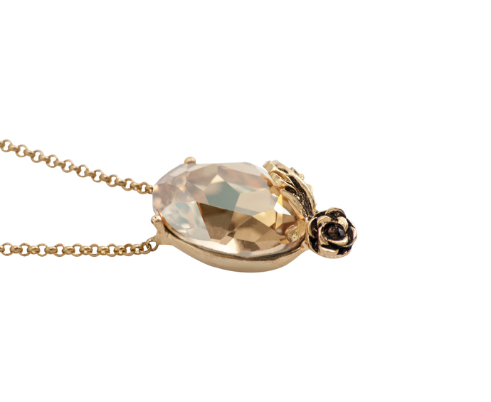 Autumn Pendant in Swarovski Crystals by Nine Vice, Contemporary Pendant